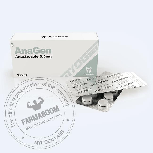 AnaGen (Arimidex - Anastrozole) 0.5mg/tab (Box 30 TABS)