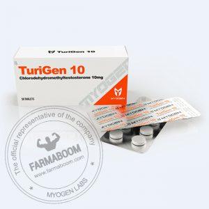 TuriGen 10 (Turinabol 10mg/tab (Box 50 TABS)